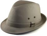 2XL Water Repellent Fedora Hat Khaki