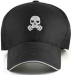 Gas Mask Skeleton Big Hat Front