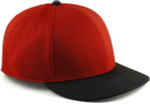 Sportflex XL/XXL Baseball Caps for Big Heads - Red/Black