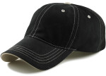 Adjustable Big Head Dad Hat-Black