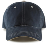 Adjustable Big Head Dad Hat-Navy