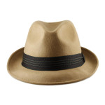Fedora Hats for Big Heads Front - Camel