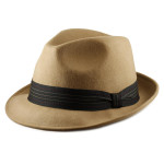 Fedora Hats for Big Heads - Camel