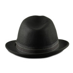 Fedoras for Big Heads Back - Black