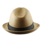 Fedora Hats for Big Heads Back - Camel