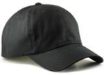 big and tall dad hats - black