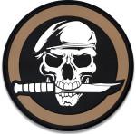 Military 3D Skull & Knife Hook & Loop Morale Patch