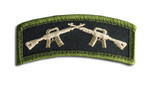 Crossed Rifles Hook & Loop Morale Patch