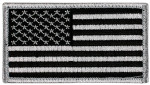 United States Hook & Loop Morale Patch - Black/Grey