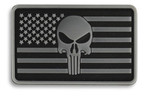Punisher USA Flag Hook & Loop Morale Patch