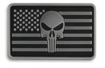 Punisher USA Flag Hook & Loop Morale Patch