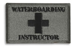 Waterboarding Instructor Hook & Loop Morale Patch