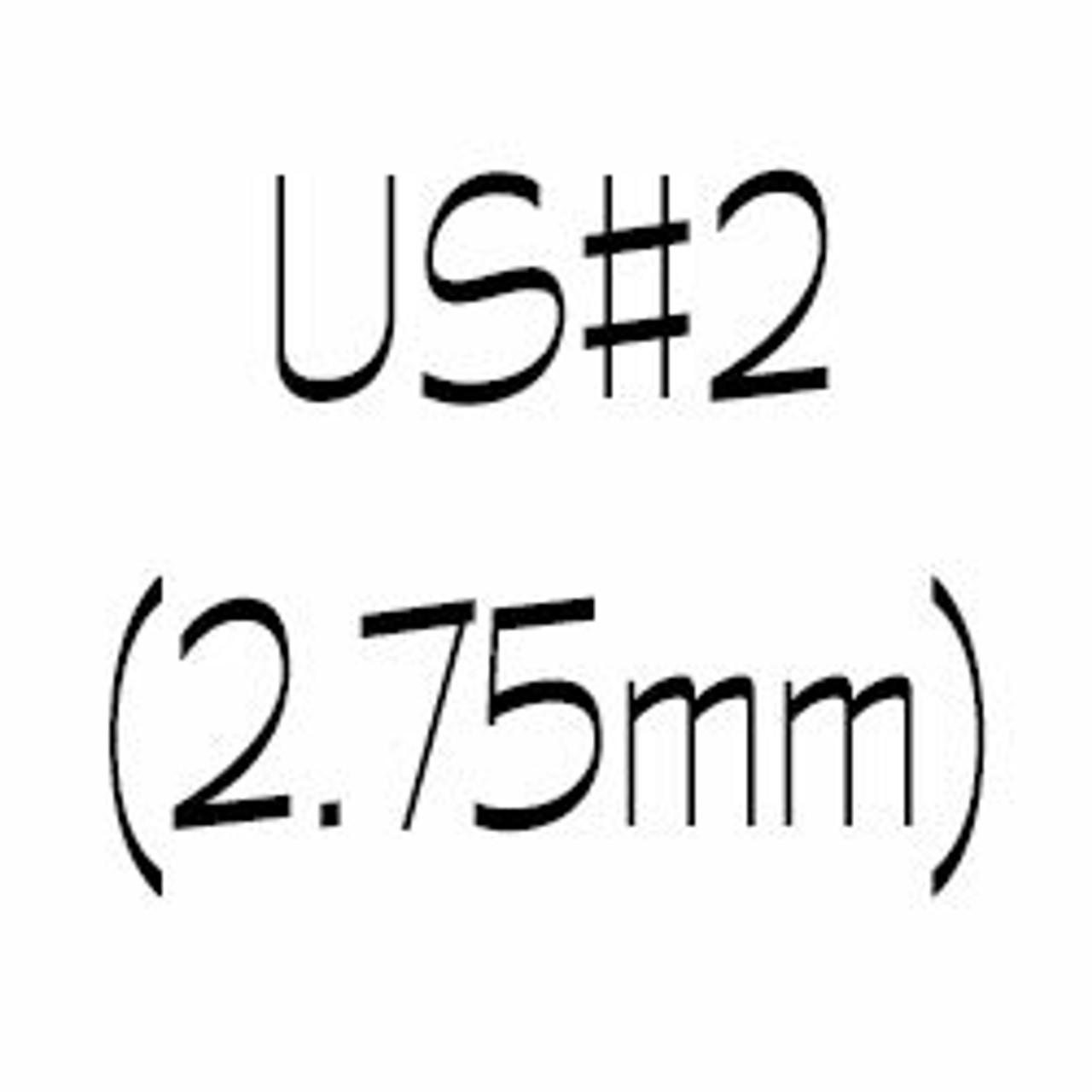 US#2 (2.75mm) Circular Knitting Needles