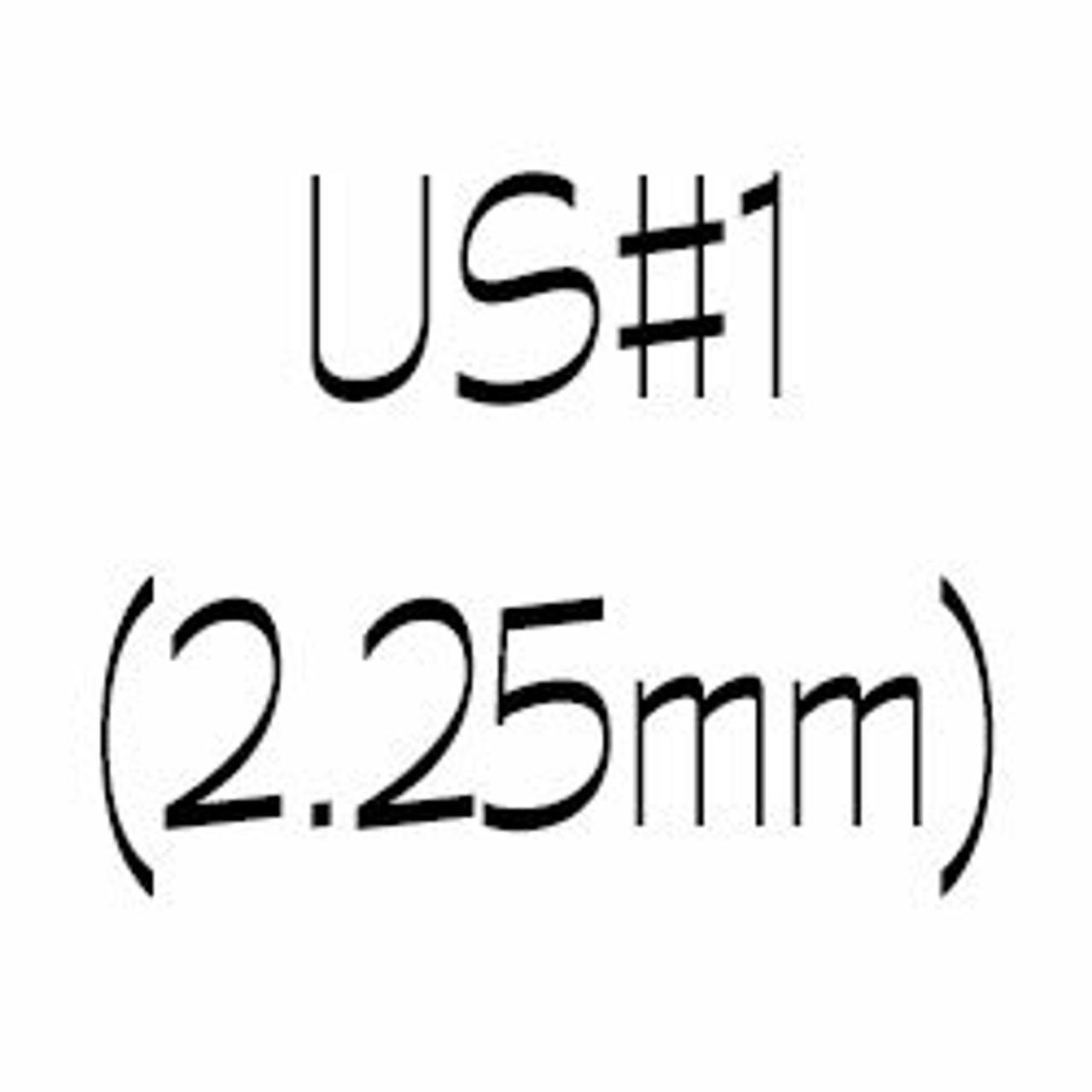 US#1 (2.25mm) Single Point Knitting Needles
