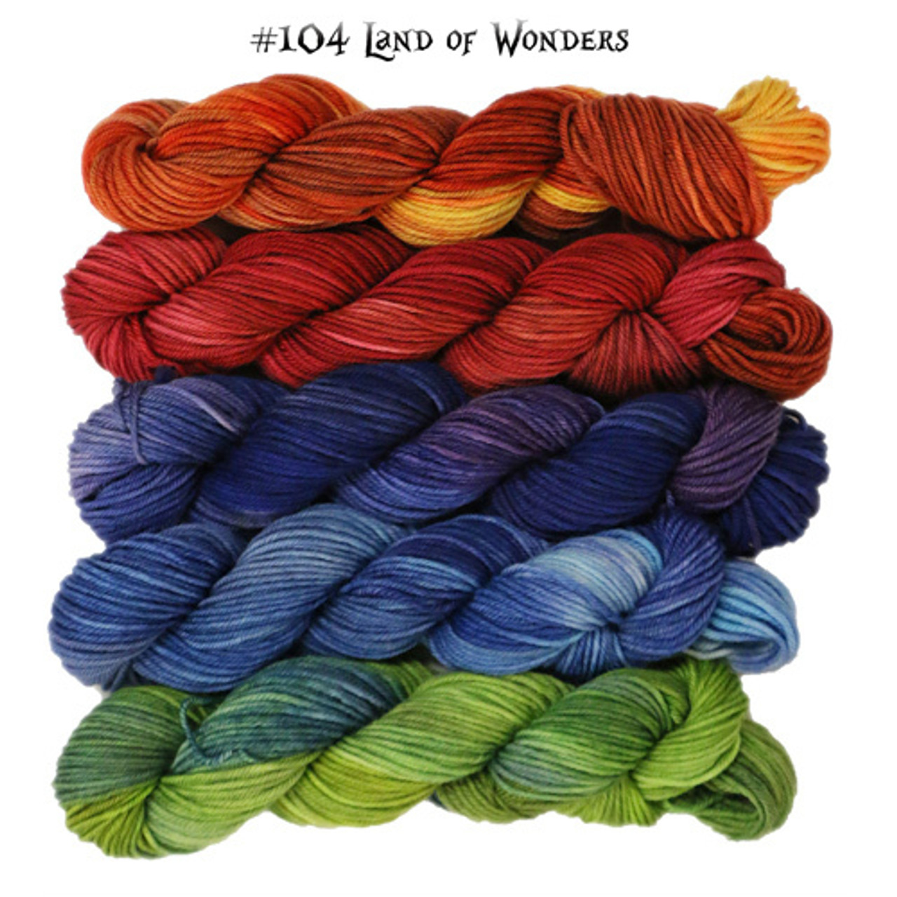 from Frabjous Fibers is Wonderland Yarns - March Hare in Mini Skein Packs