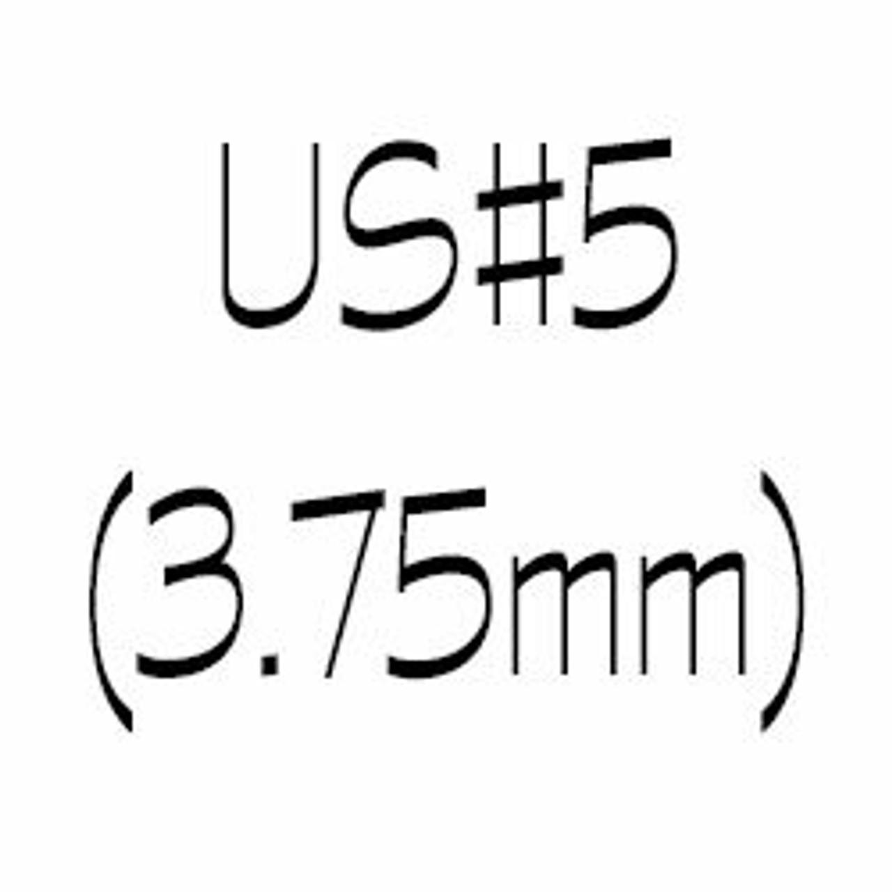 US#5 (3.75mm) Single Point Knitting Needles