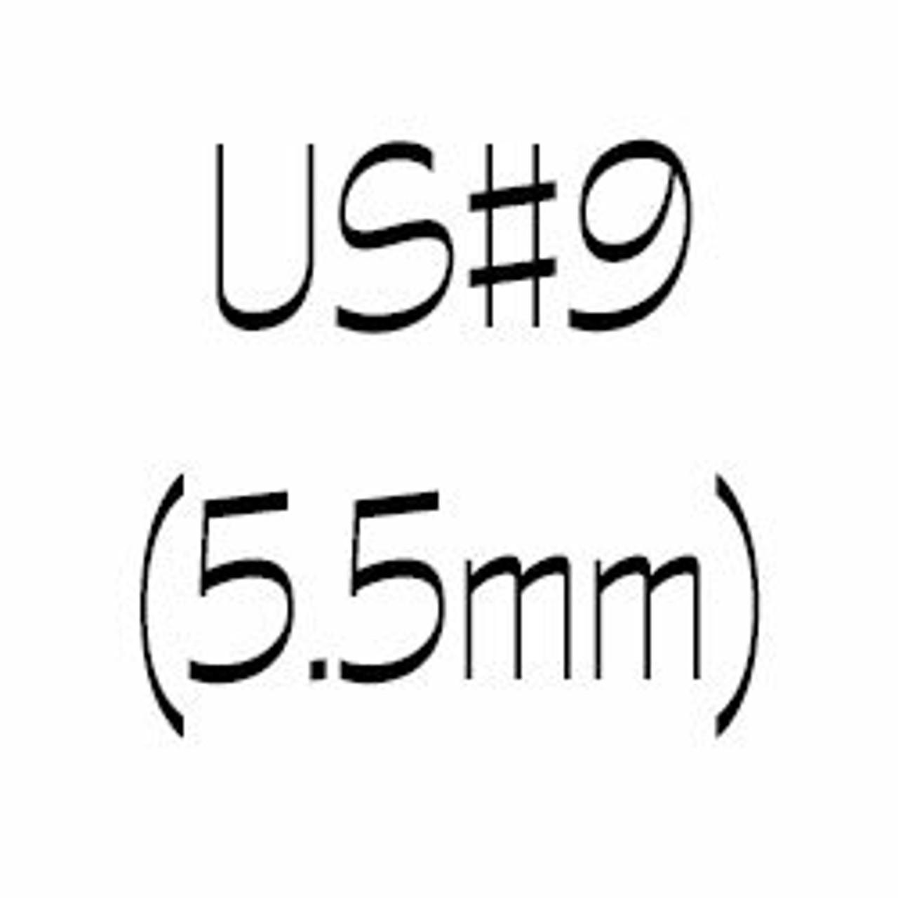 US#9 (5.5mm) Single Point Knitting Needles