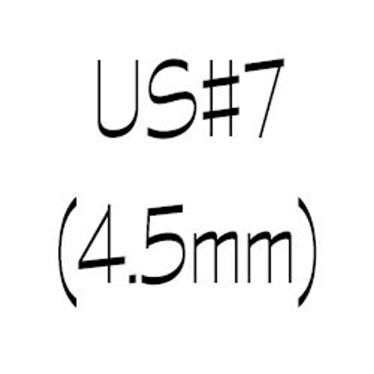 US#7 (4.5mm) circular knitting needles