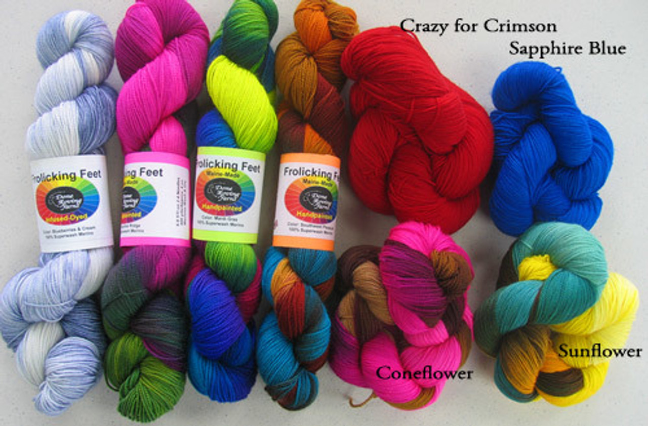 Done Roving Yarns - Frolicking Feet  - 100% Made in America
