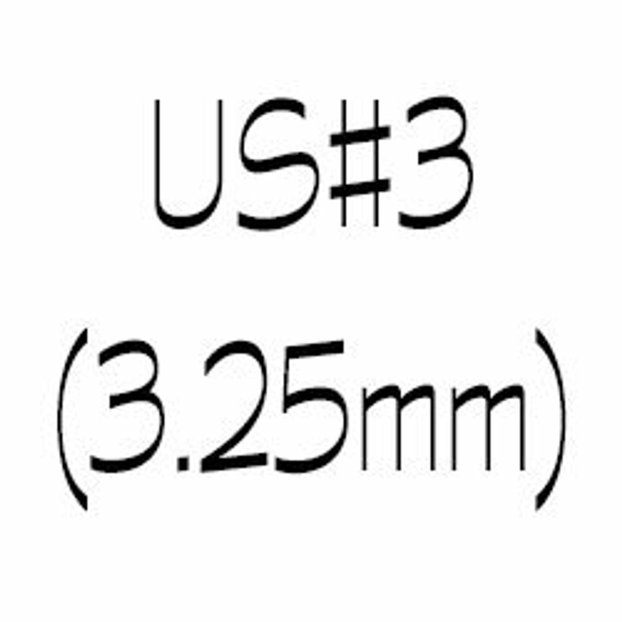US#3 (3.25mm) circular knitting needles