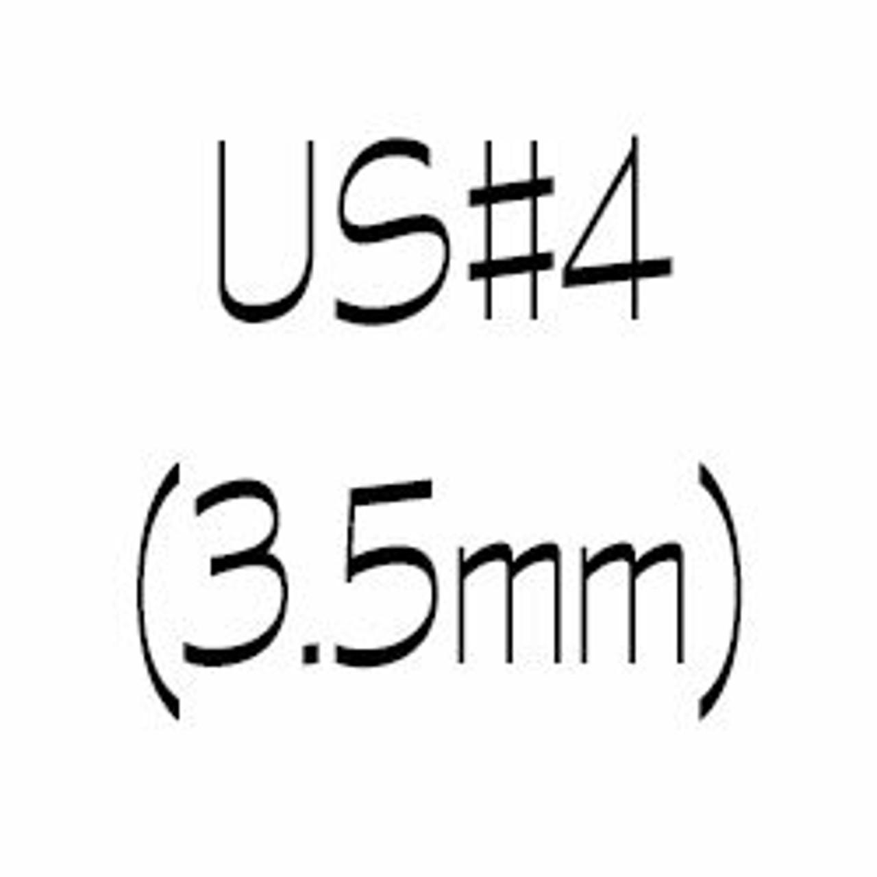 US#4 (3.5mm) Single Point Knitting Needles