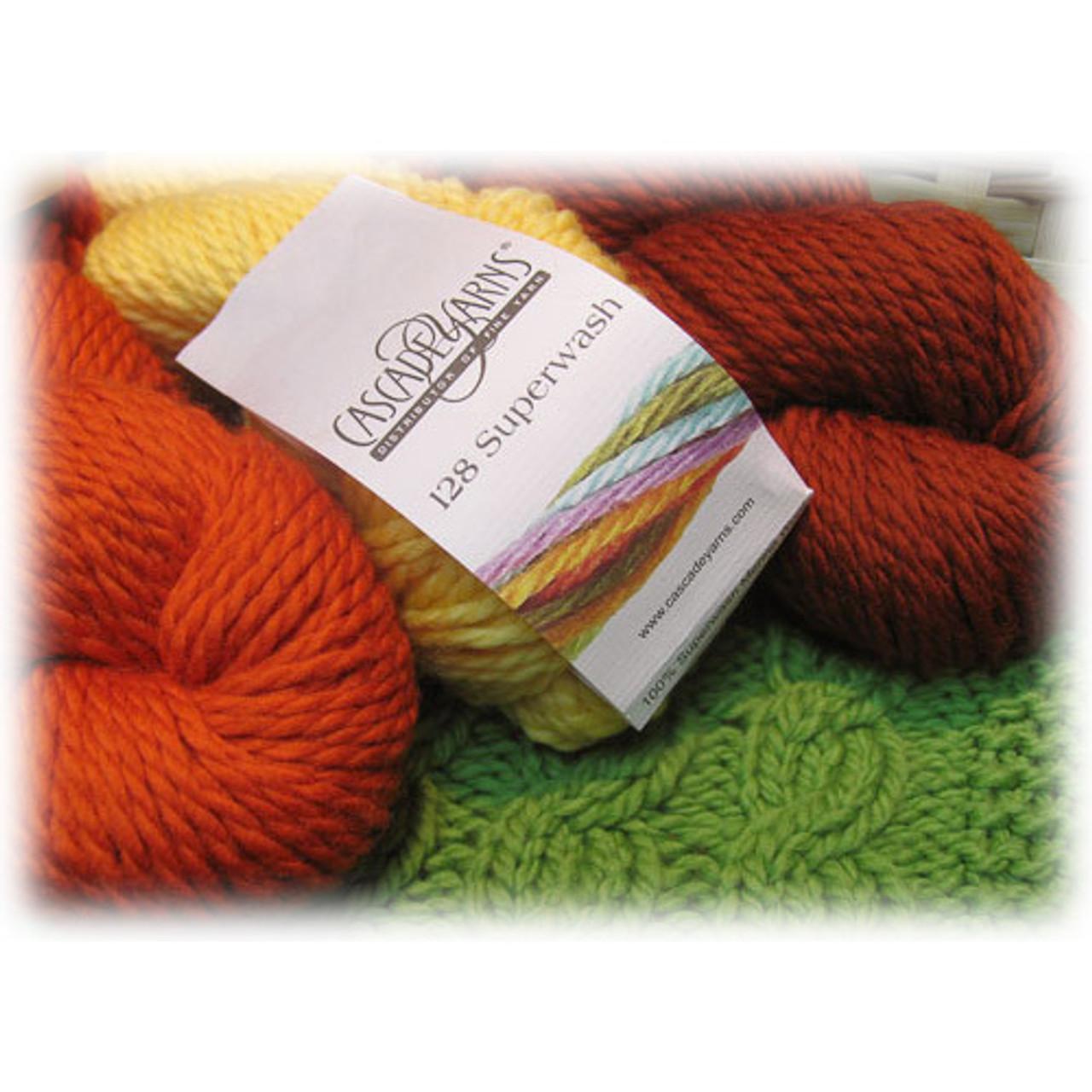 Cascade Yarn - 128 Superwash, 100% Superwash Merino - Bulky Weight