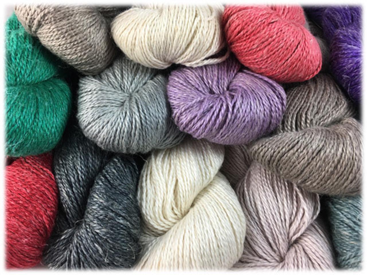 HiKoo Yarn - Rylie, Baby Alpaca, Mulberry Silk, and Linen