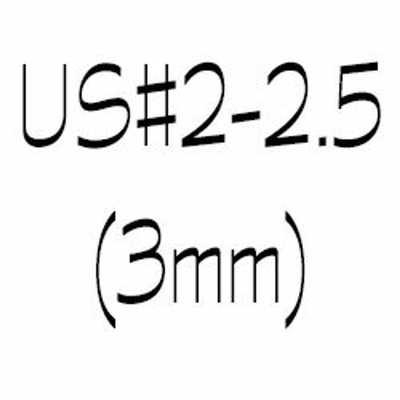 US#2 and US #2.5 (3mm) Circular Knitting Needles
