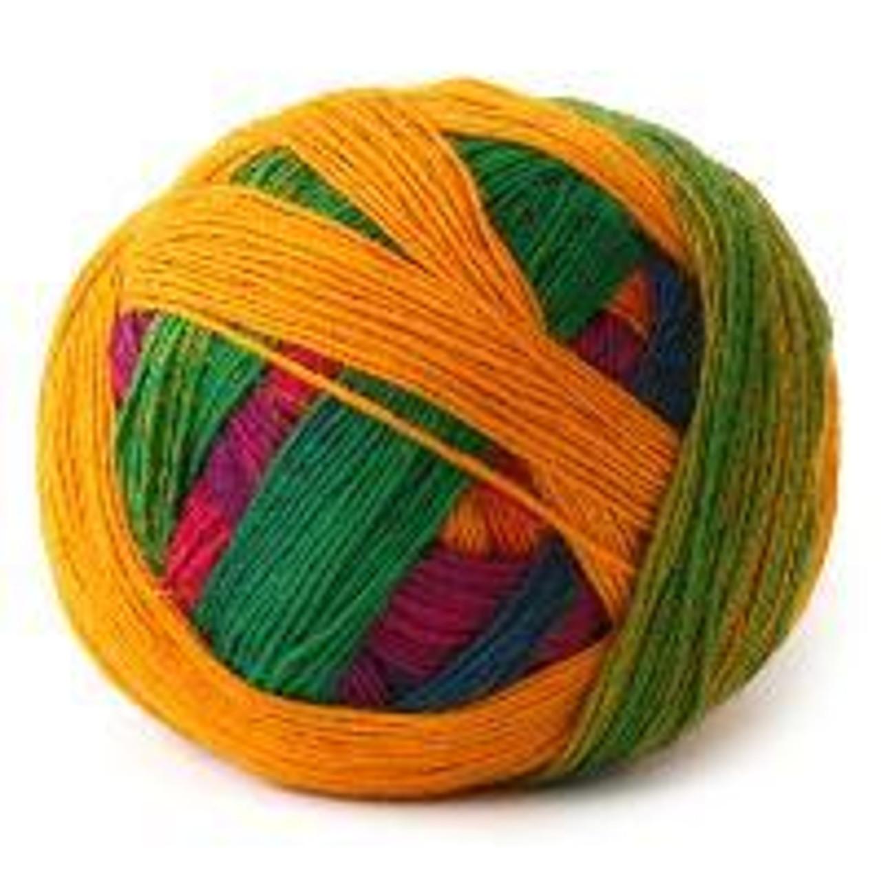 Schoppel Zauberball 100   Zauberball 100 yarn is 100% Merino wool.