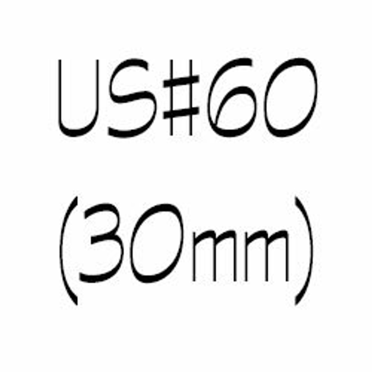 US#60 (30mm) Circular Knitting Needles