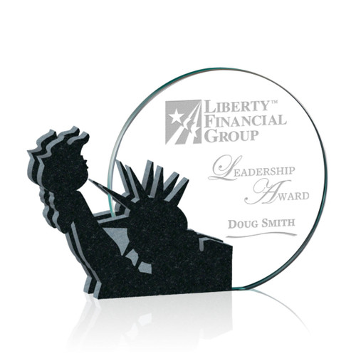 Clement Statue of Liberty Award - Starfire/Granite