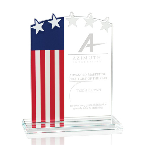 "Stars & Stripes Award - 5/8"" Starfire"
