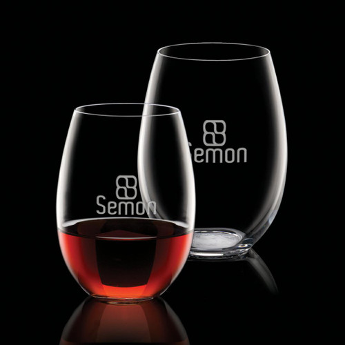 Carlita Stemless Wine - Deep Etch
