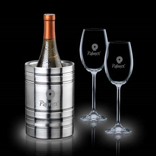 Perla Wine Cooler & Woodbridge Set