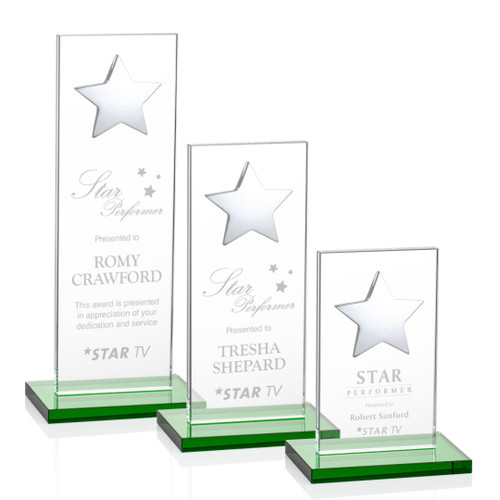 Dallas Star Award - Green/Silver