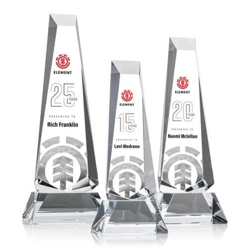 Rustern Obelisk Award on Base - VividPrint™/Clear