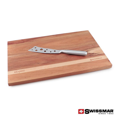 Swissmar® Acacia Cutting Board & Cheese Knife Set