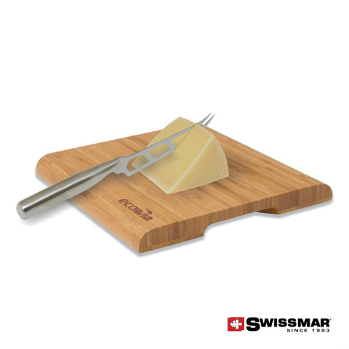 Swissmar® Cutting Board & Cheese Knife - Bamboo
