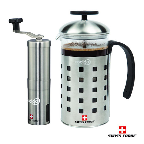Swiss Force® Geneva Coffee Press and Grinder