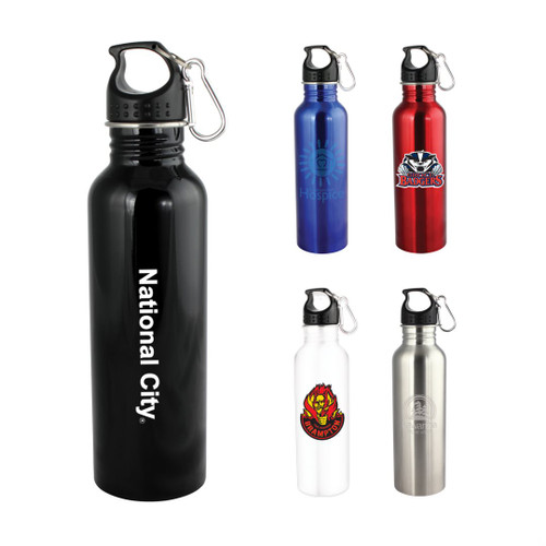 Wide Mouth Flair Bottle with Carabiner - 25oz