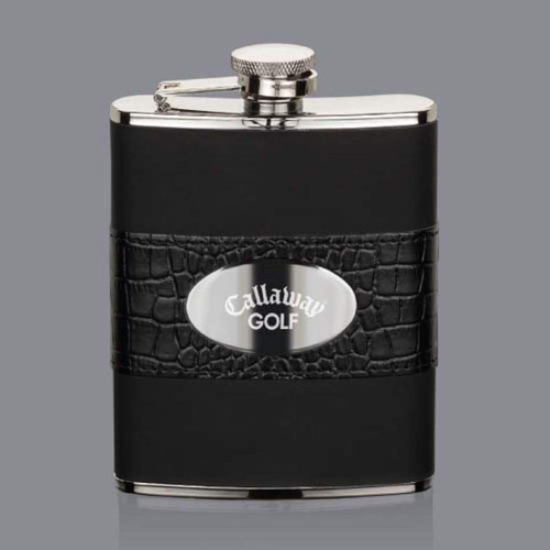 Gaetana Hip Flask -  Stainless Plate