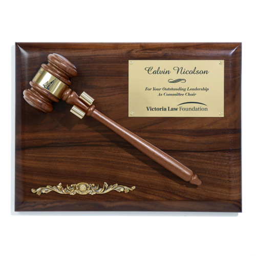 Gavel Plaque - Walnut