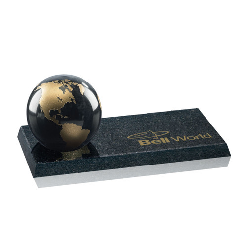 Globe on Granite - Black