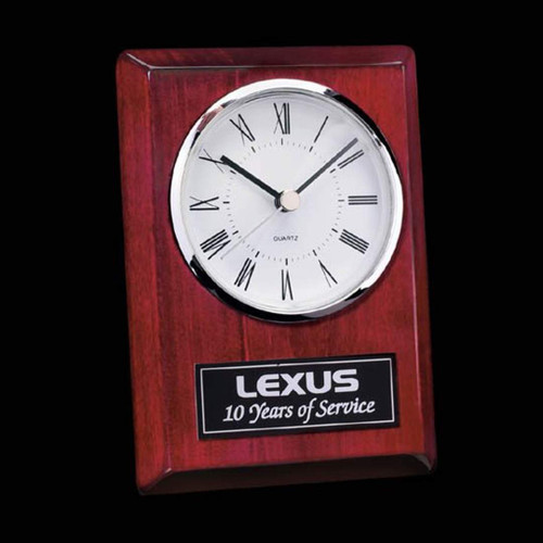 Alexis Clock -Chrome