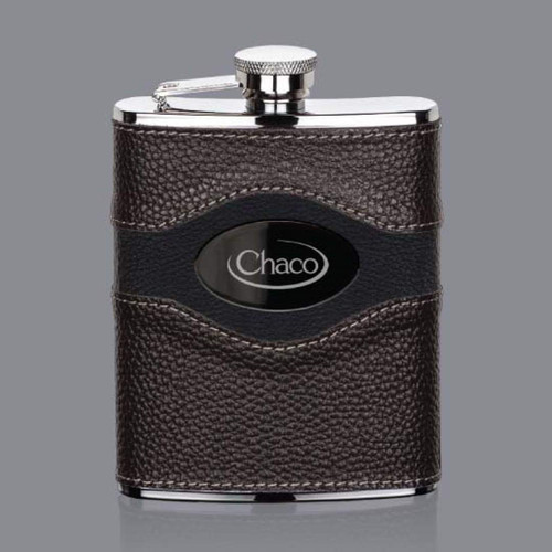 Colchester Hip Flask -  Black Nickel Plate