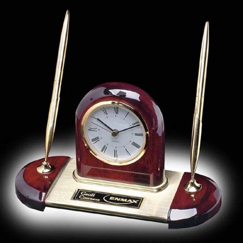 Alliston Clock/Pen Set - Gold