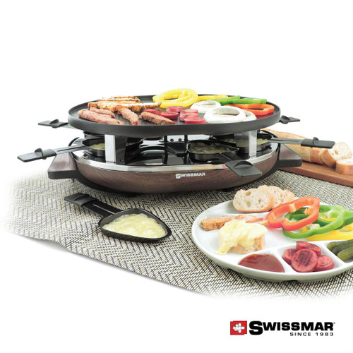 Swissmar® Matterhorn Raclette Party Grill - Wood Base