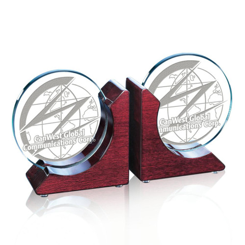 Cardiff Bookends - Starfire/Rosewood