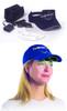 Bright Light Hat Visor components and view as it would look mounted to your own baseball cap