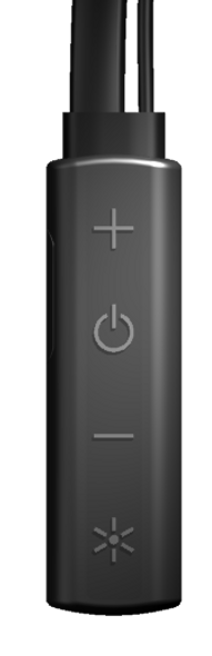 Detail of control for Human Charger Wireless Headset